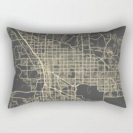 Tucson Map yellow Rectangular Pillow