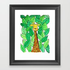 Watercolor Giraffe Framed Art Print