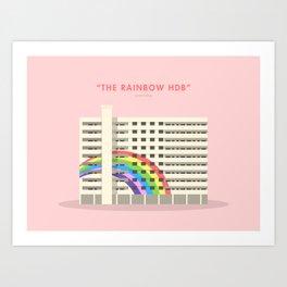 The Rainbow HDB, Singapore [Building Singapore] Art Print