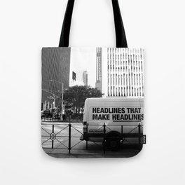 New York Post Truck, Manhattan Tote Bag