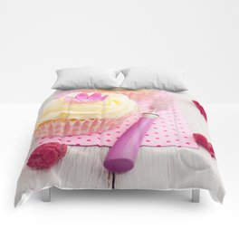 Two cupcakes Comforters