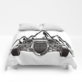 Hotrod with Bergen Custom Car Ami Car Car Comforters