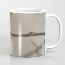 Branch on a blurred brown background Coffee Mug