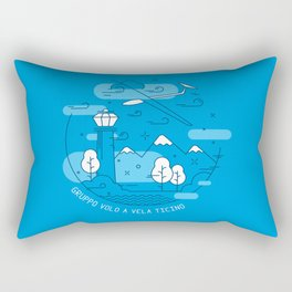 GVVT - Line art blue version Gruppo Volo a Vela Ticino Rectangular Pillow