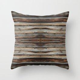 wood 2 Throw Pillow