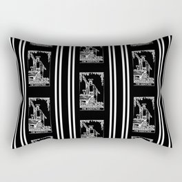 Black and White Repeating Tarot Pattern - The Magician Rectangular Pillow