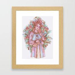 Ukulele Lady Framed Art Print