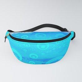Blue Sky Bubble Pattern Fanny Pack