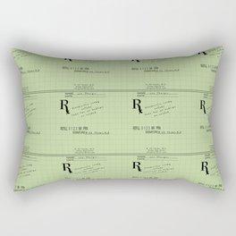 Prescription for Lee Thargic from Dr. B. Ed Thyme Rectangular Pillow