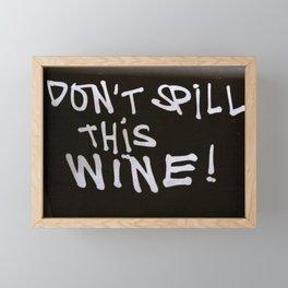 Spilling Wine Framed Mini Art Print