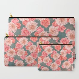 Roses&Dahlias pattern Carry-All Pouch