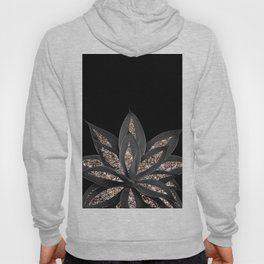 Gray Black Agave with Rose Gold Glitter #1 #shiny #tropical #decor #art #society6 Hoody