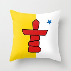 Flag of Nunavut - High quality authentic HD version Throw Pillow