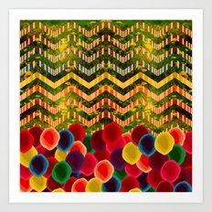 Chevron And Dots Art Print