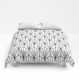 Art Deco Vector in Black and White Comforters