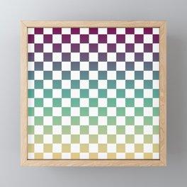 Multicolor Gradient Checker Framed Mini Art Print
