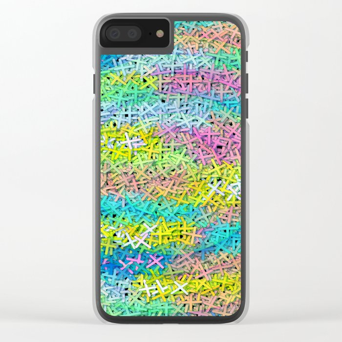 A pile of colorful joy Clear iPhone Case