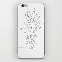 One Line Pineapple iPhone Skin