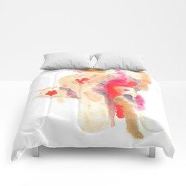 Watercolor Pink Black Gold Flow | [dec-connect] 41. spitfire Comforters