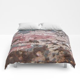 Cracking Paint and Rust Abstract Comforters