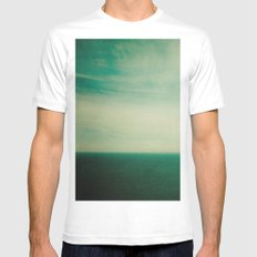 Dare to Leap MEDIUM White Mens Fitted Tee