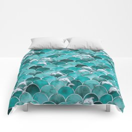 Wave Jumpers (Turquoise) Comforters