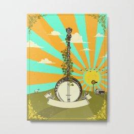 BANJO SUNRISE Metal Print