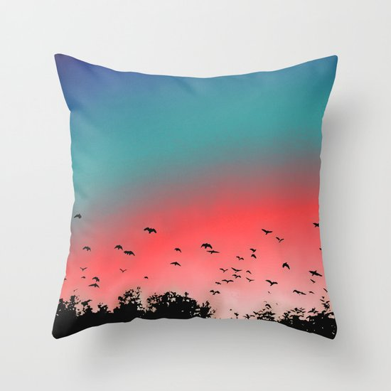 Birds Flying High Throw Pillow