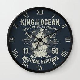 King of the Ocean Wall Clock