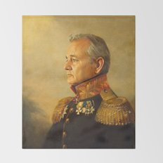 Bill Murray - replaceface Throw Blanket