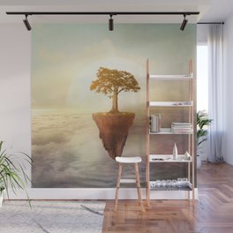 Floating tree Wall Mural