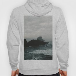 Crashing Waves on Cannon Beach Oregon Hoody