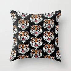Tiger Mask Throw Pillow