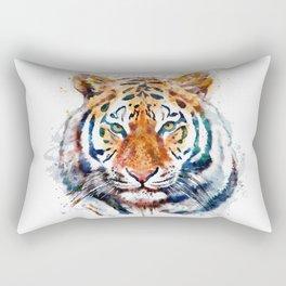 Tiger Head watercolor Rectangular Pillow