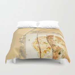 Upshifting Unconcealed Flowers  ID:16165-105815-13851 Duvet Cover
