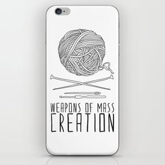 Weapons Of Mass Creation - Knitting iPhone & iPod Skin