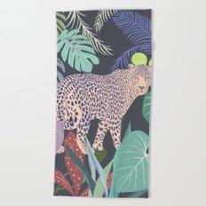 Hello Leopard Beach Towel