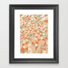 Triangulation Framed Art Print