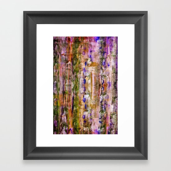 floating / purple Framed Art Print