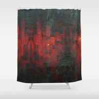 rothko Shower Curtains featuring Ruddy by Aaron Carberry