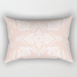 Blush White Mandala Rectangular Pillow