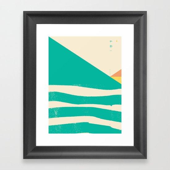 Secret Surf Map 002 — Matthew Korbel-Bowers Framed Art Print