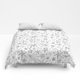 Grey Starfish Pattern - Light Comforters