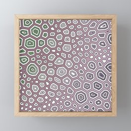 Experimental pattern 48 Framed Mini Art Print