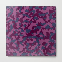 Berry Pretty Camouflage Metal Print
