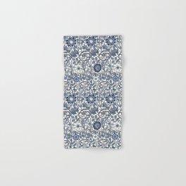 William Morris Navy Blue Botanical Pattern 6 Hand & Bath Towel