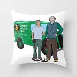 Russell & Hugh Jewellery Retrieval Service - DMDC - Detectorists Throw Pillow