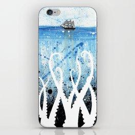 Kraken Watercolor iPhone Skin