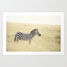 be still::kenya Art Print