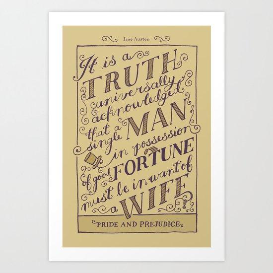 Jane Austen Covers: Pride and Prejudice Art Print